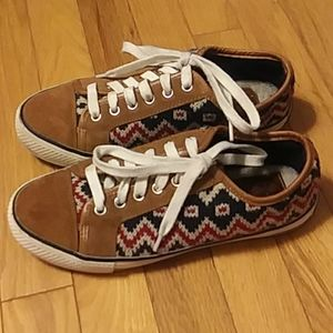 Tory Burch Southwest Style Knit Sneakers Size 7